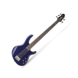 Cort Action Bass V Plus Blue Metallic 5 String Bass Guitar