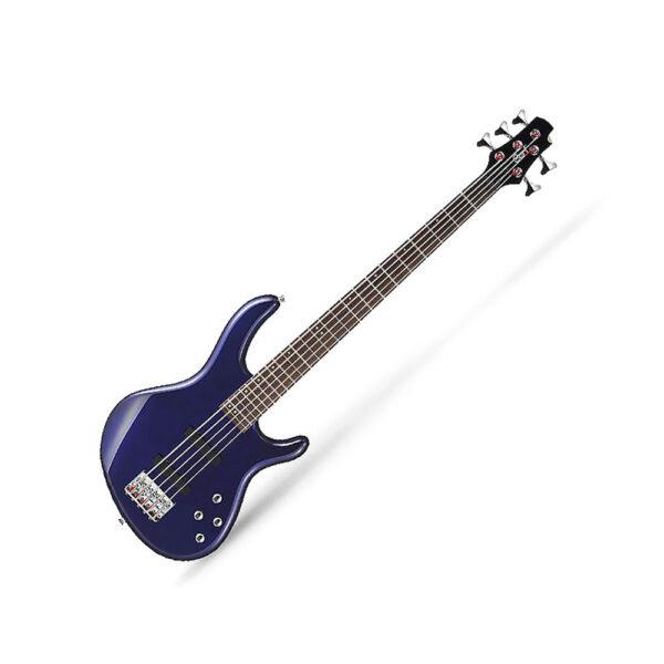 Cort Action Bass V Plus Blue Metallic 5 String Bass Guitar