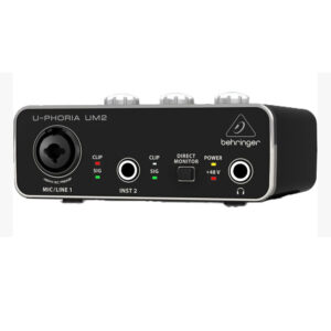 Behringer U-Phoria UM2 Audiophile 2×2 USB Audio Interface