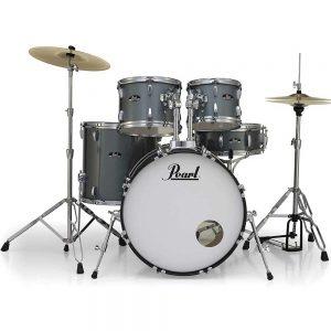Pearl Roadshow 5 Piece Drumkit in Charcoal Metallic