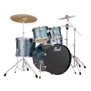 Pearl Roadshow 5 Piece Drumkit In Charcoal Metallic