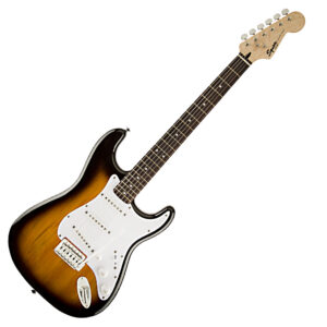 Fender Squier Bullet Strat Electric Guitar with Trem – Brown Sunburst