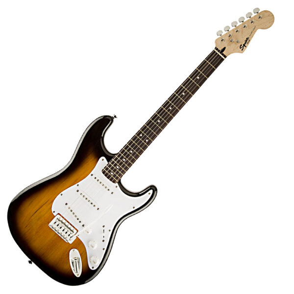 Fender Squier Bullet Strat Electric Guitar with Trem – Brown Sunburst