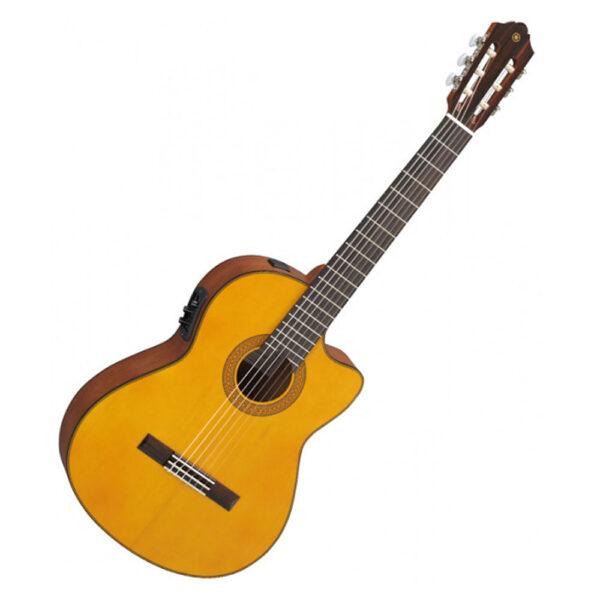 Yamaha CGX122MCC Classical Guitar w/Pickup & Cutaway – Solid Cedar Top