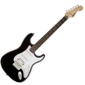 Fender Squier Bullet Strat HSS Electric Guitar with Trem – Black